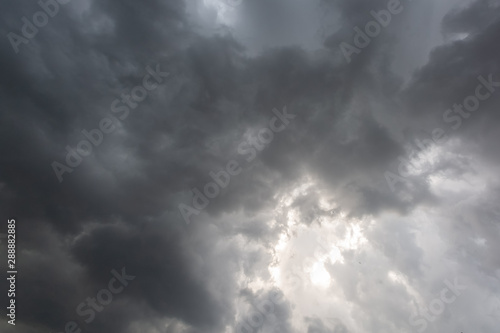 Dramatic sky with dark clouds background