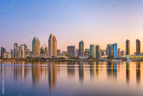 San Diego, California, USA Cityscape Tapéta, Fotótapéta