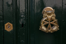 Maltese Cross Door Knocker On ...