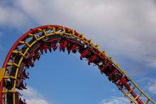 Roller Coaster Ride In Amuseme...