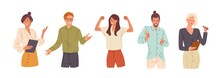 Confident People Flat Vector I...