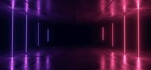 Gate Neon Glowing Purple Blue ...
