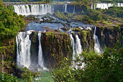 Fotobehang Grijze traf. Iguazú