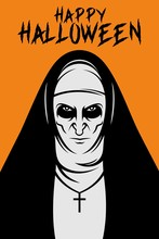Halloween The Nun Vector