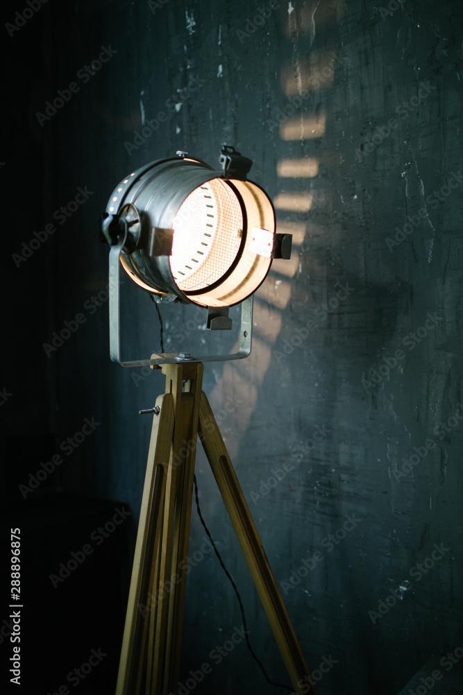 Fototapeta Retro light modifier in room interior
