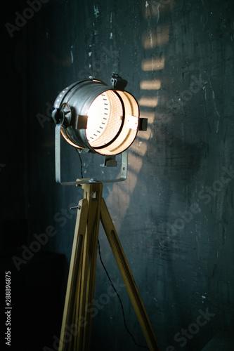 Retro light modifier in room interior - 288896875