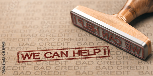 Foto Bad Credit Fix. Debt Solutions Concept.