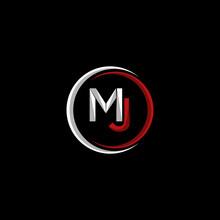 Letter MJ Creative Modern Logo