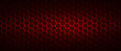 canvas print picture - dark red hexagon background and red light