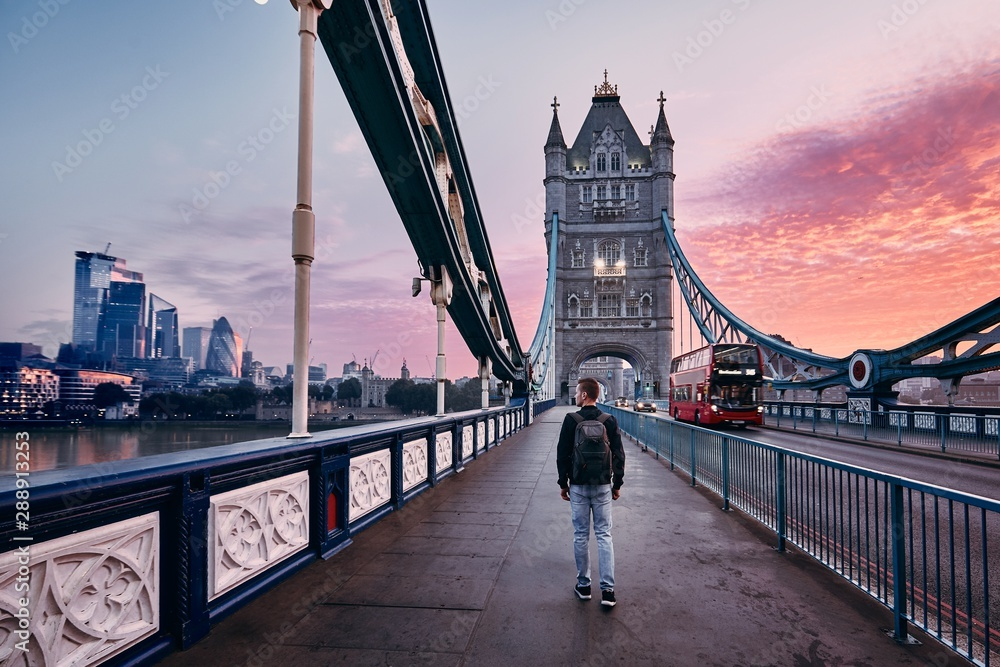 Fotografie, Obraz London at colorful sunrise