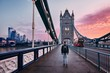 London at colorful sunrise