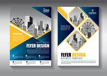Brochure Design, Cover Modern Layout, Annual Report, Poster, Flyer In A4 With Colorful Triangles, Geometric Shapes For Tech, Science, Market With Light Background