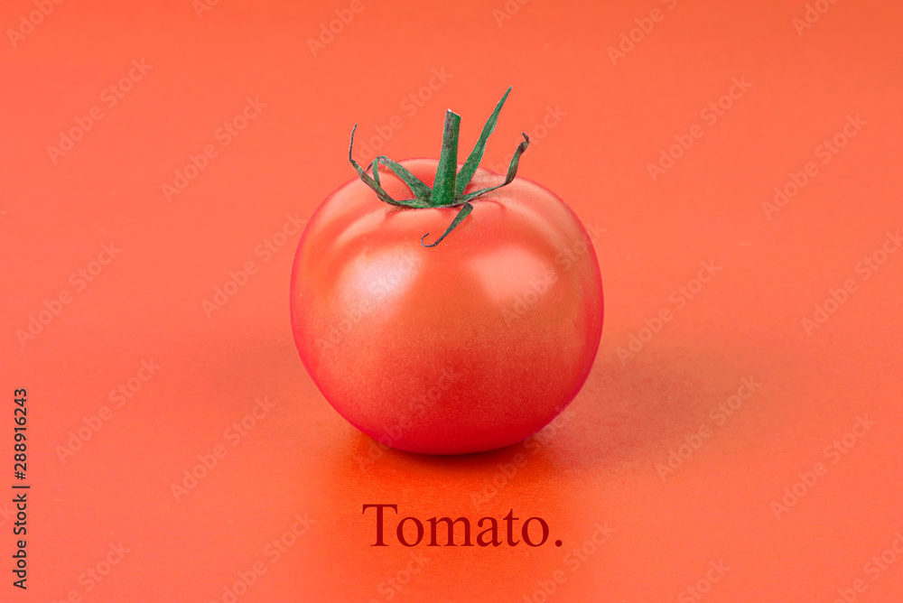 Fototapety, obrazy: tomato on red background