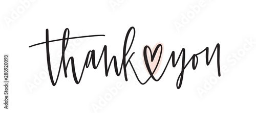 Fotomural  Thank you handwritten vector lettering