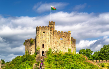 Medieval castle in Cardiff, Wales