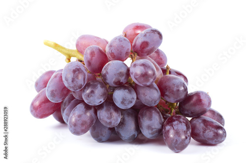 Canvastavla  Ripe red grape isolated on white background