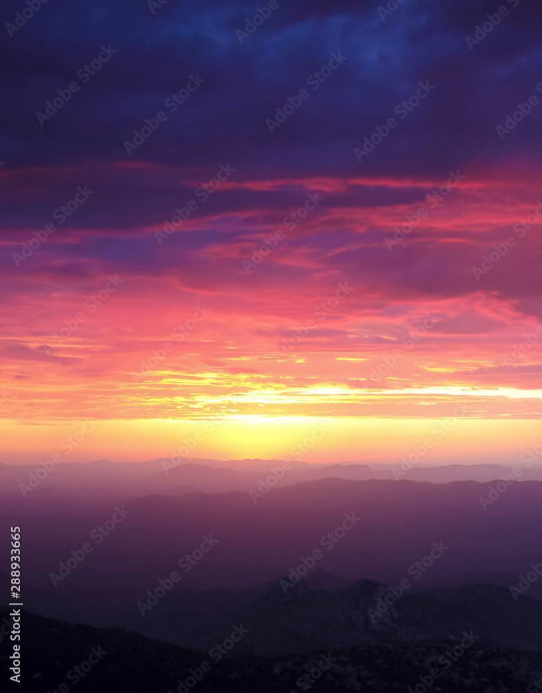 Fototapeta A Sunset from Atop Kitt Peak, Tucson, AZ, USA