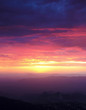 canvas print picture - A Sunset from Atop Kitt Peak, Tucson, AZ, USA