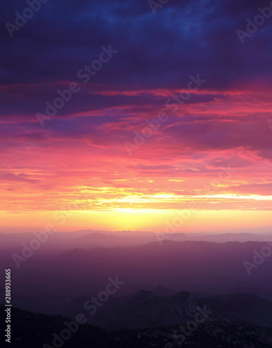 A Sunset from Atop Kitt Peak, Tucson, AZ, USA Wallpaper Mural