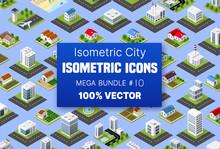 Isometric Set Building Houses ...
