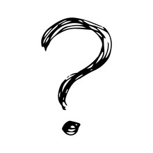 Hand Drawn Question Mark Symbol