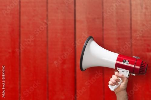 Photo Megaphone attention background advertisement amplifier announce announcement