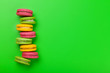 canvas print picture - Cake macaron or macaroon sweets