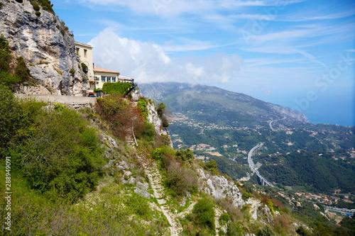 Cote d'Azur vista from Sainte Agnes village in France