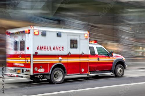 Photo ambulance on emergency car