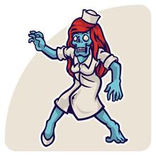 Spooky Nurse Zombie Characters...
