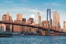 New York Skyline In The Morning Sun