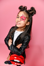 Little Fashionable Girl Hipste...