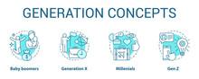 Generation Concept Icons Set. ...