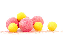 Pink And Yellow Bath Bombs And...