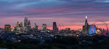 London City Sunrise Aerial View