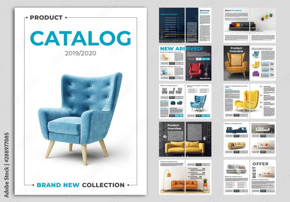 Fototapeta Product Catalog Layout