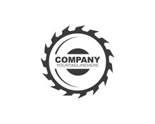 Saw Blade  Logo Icon Vector Illustration