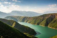 Fierza Reservoir In Albania Be...