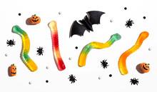 Halloween Objects With Gummy W...
