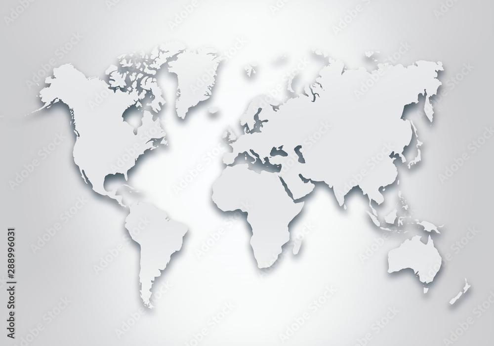 Fototapety, obrazy: World digital outlined map background