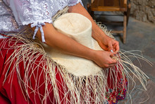 Woman Weaving A Panama Hat, Al...