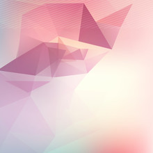 Triangle Blured Abstract Futuristic Background Template For Brochure Flyer