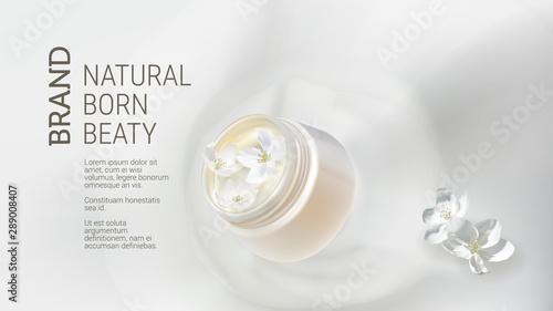 Fototapeta  Cosmetic realistic vector background