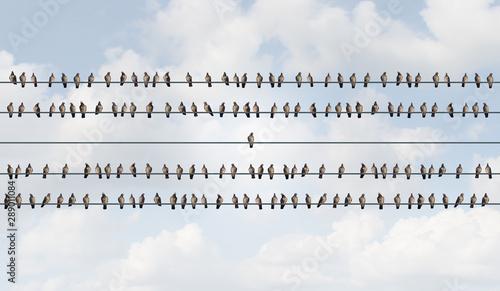 Obraz na plátně Concept Of Individuality