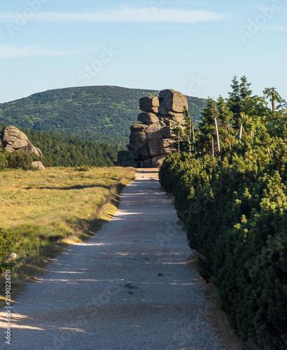 Fotografie, Obraz  Svinske kameny rocks bellow Szrenica hill in Krkonose mountains on czech - polis