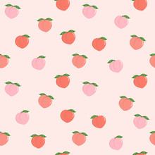 Pink Peach Seamless Pattern. F...