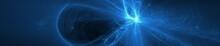 Blue Glow Wave. Lighting Effec...