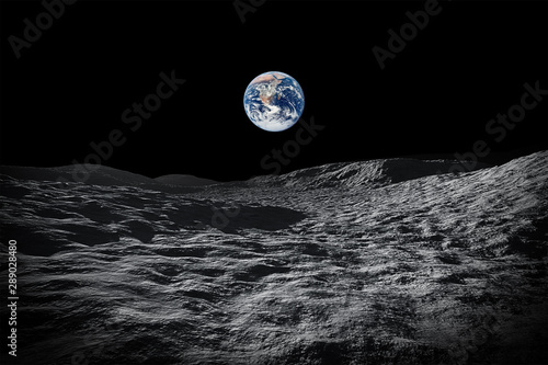 view to our planet earth from moon Poster Mural XXL