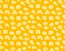 Cheese Seamless Pattern With S...