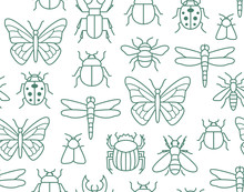 Insects Seamless Pattern With ...